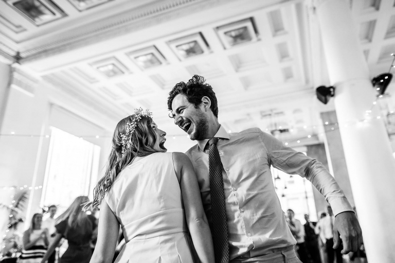 Bride and guest Ceilidh dancing