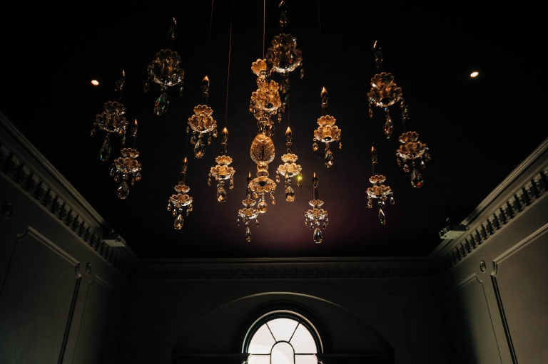 Chandeliers in the hallway