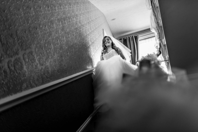 Bride reveals her dress for the first time