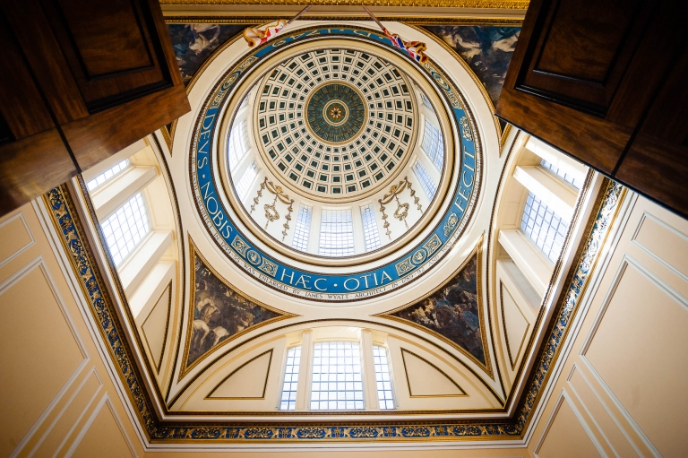 Liverpool town hall dome above the staircase