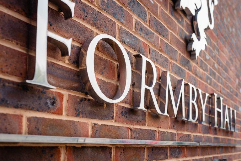Formby Hall sign