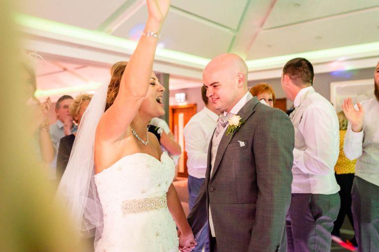 Bride gives a big cheer