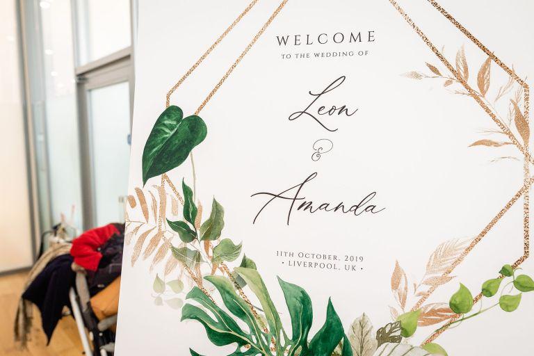Amanda & Leon welcome sign