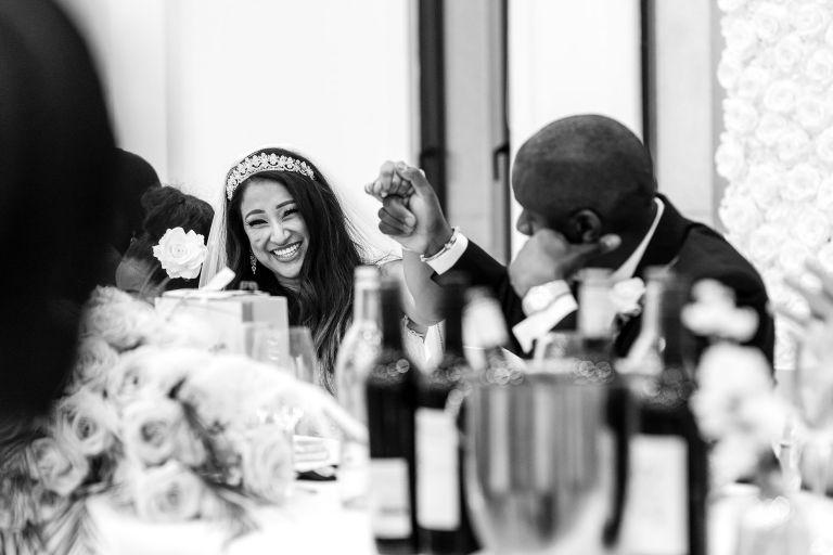 Bride reacts to best mans speech